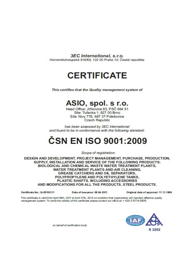 Sertifikat ISO 9001:2009